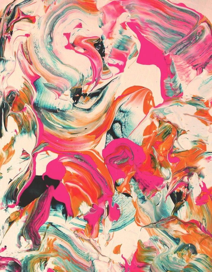 Des Abstractions A Coups De Pinceaux Papier Peint D Art Fond D Ecran Abstrait Abstrait