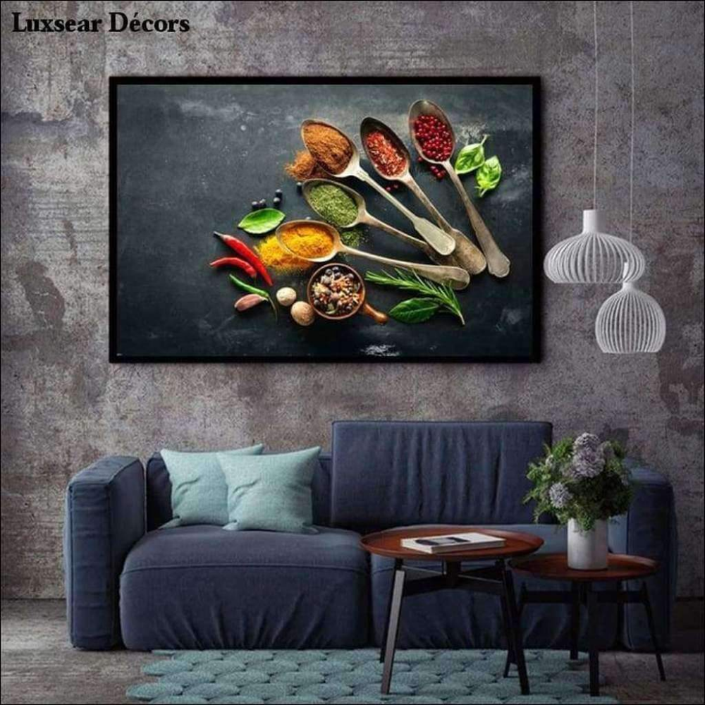 Indian Spices Canvas Prints Wall Art Canvas Painting Food Wall Art Modern Poster