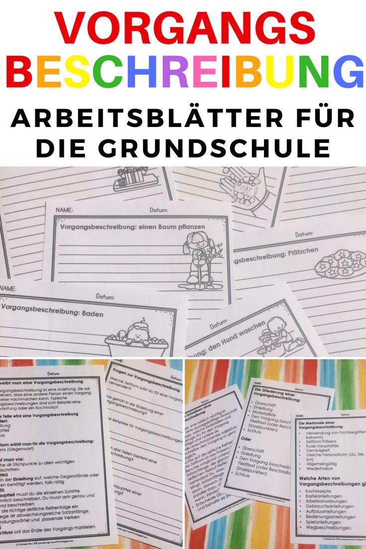 Vorgangsbeschreibung Arbeitsblätter für die Grundschule und DaF ...