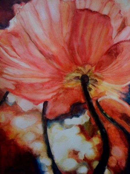 One of my flower watercolor paintings! by Catie Daniel