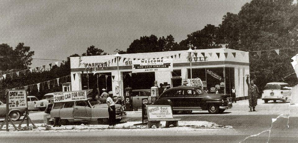 Gulf Station in Gulfport MS, 1955