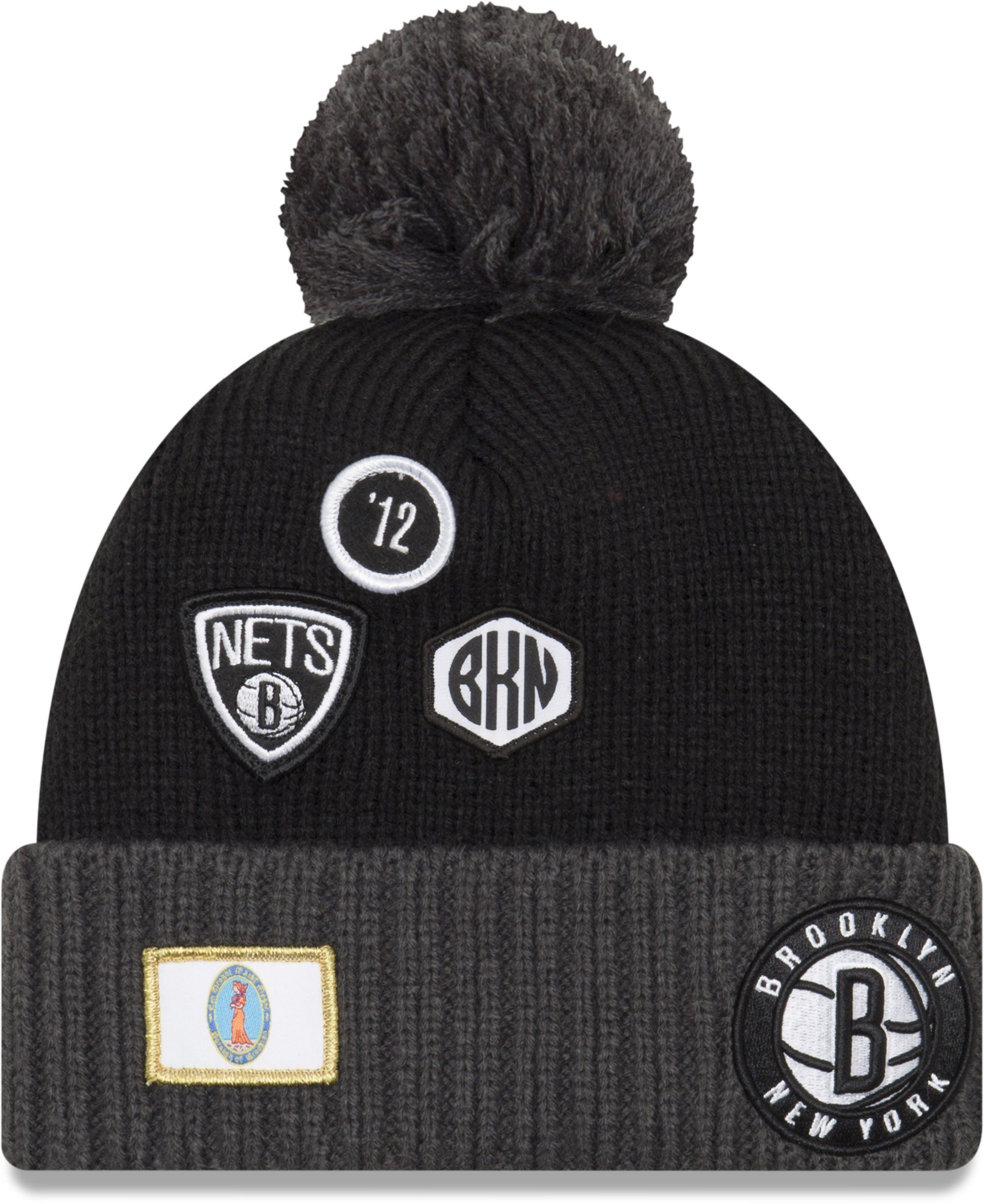 new concept 9660d a666e ... cheapest brooklyn nets new era nba 2018 draft knit bobble hat lovemycap  d148a e6a20 ...