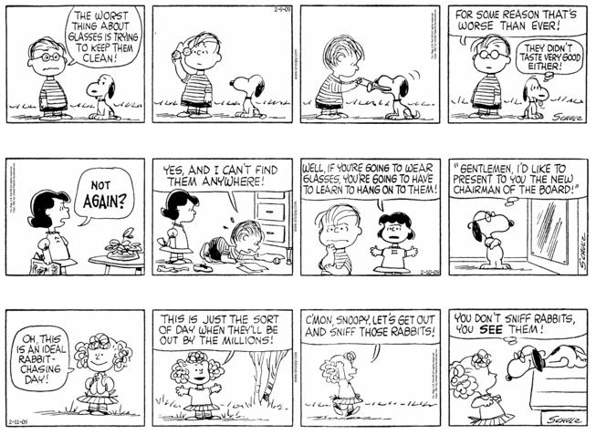 Linus Van Pelt Quotes: Peanuts Series Of Linus Van Pelt Getting Glasses #3