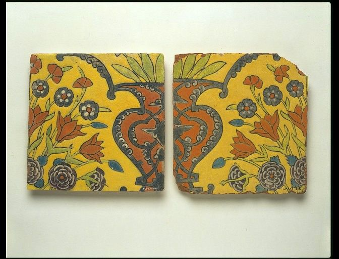 LavishShoestring.com | tile        Object:        Tile      Place of origin:        Panjab, Afghanistan (probably, made)      Kashmir, India (possibly, made)      Date:        ca. 1650 (made)      Artist/Maker:        Unknown (production)      Materials and Techniques:        Glazed earthenware.