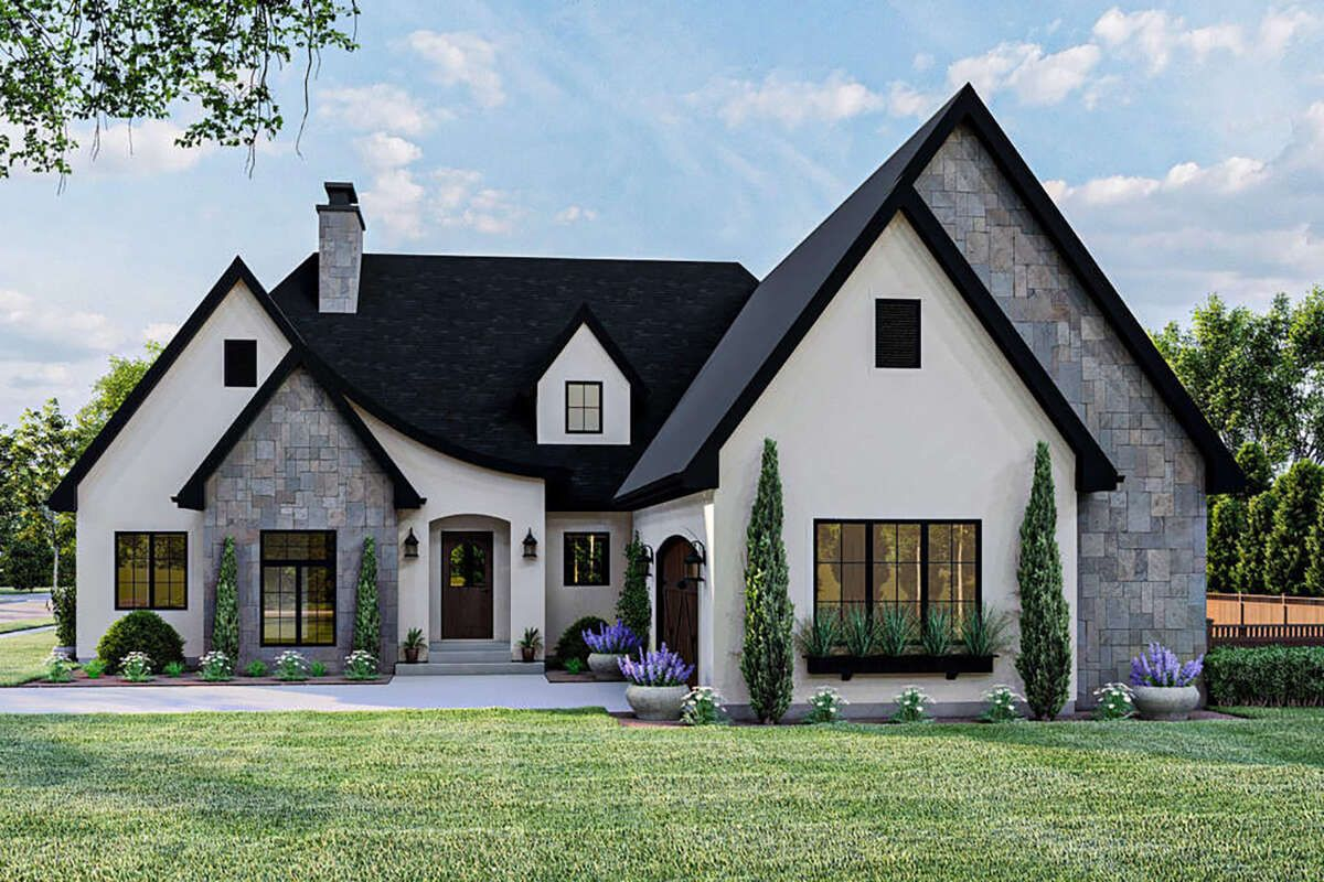 House Plan 963 00468 French Country Plan 1 958 Square Feet 3 Bedrooms 2 Bathrooms In 2021 French Country House Plans Tudor House Exterior Cottage House Plans