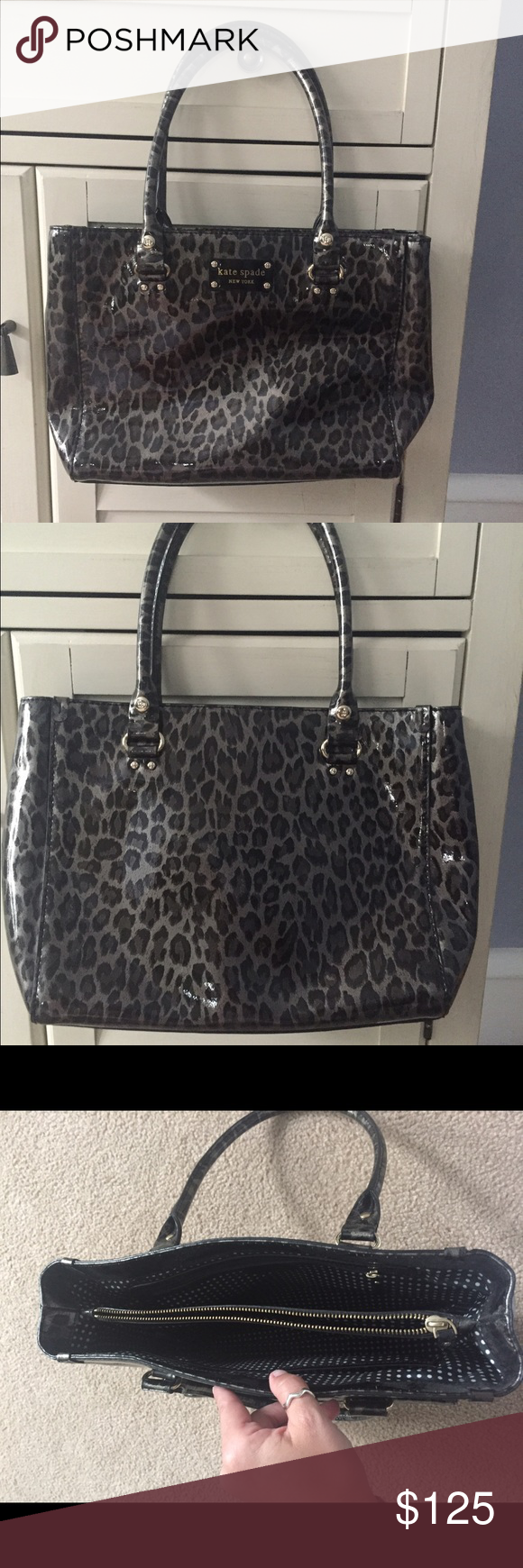 "Kate Spade Quinn Wellesley Animal Handbag Gently used. No stains/wear. Interior center zip compartment. Zip pocket on the inside and 2 small slip pockets. 7"" handle drop. Please no trades kate spade Bags"
