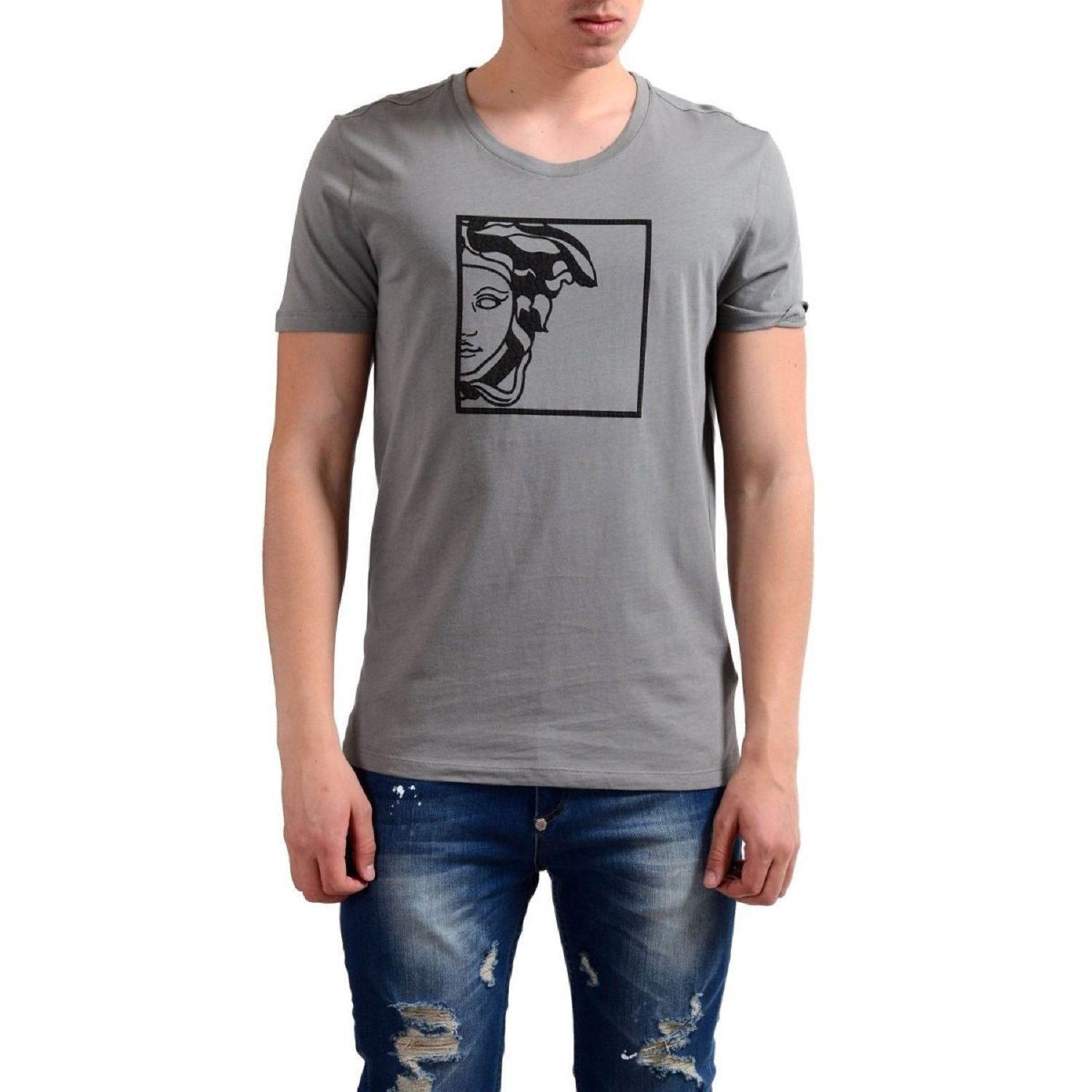 0892e8e6b06 Versace Men s Collection Half Medusa Grey Cotton T-shirt (S)