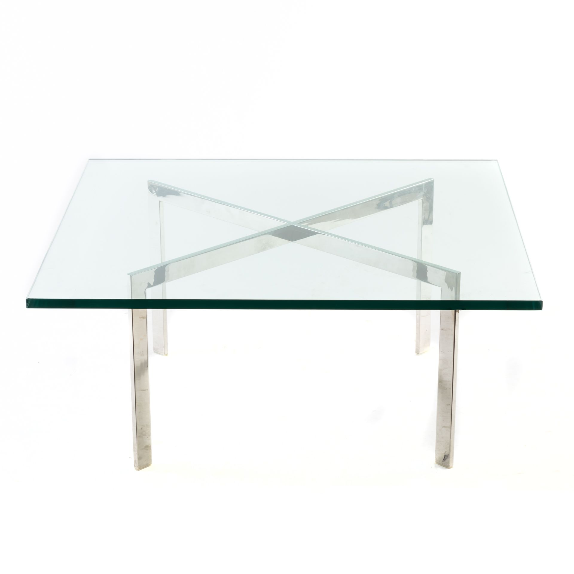 Mid Century Square Glass Top Coffee Table On Chrome X Legs Glass Top Coffee Table Coffee Table Mid Century Square [ 1920 x 1920 Pixel ]
