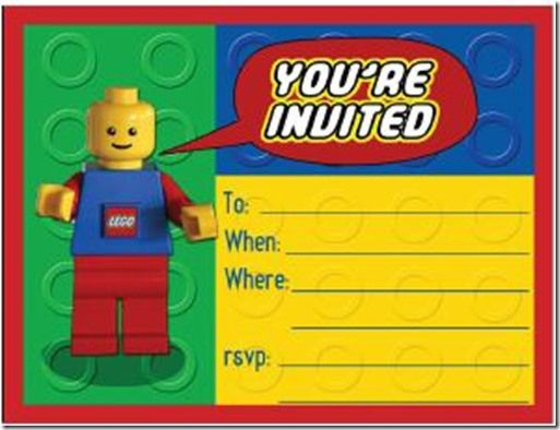 Lego Party Invitation Free Printable – Boy Party Invitations