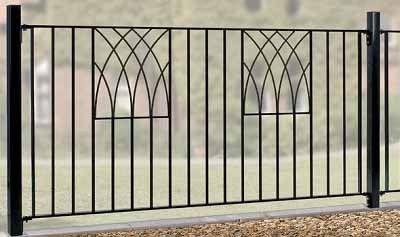Gentil Verona Metal Fencing   Garden Gates Direct