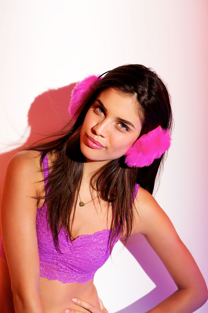 Give one. Get one. Or just keep them both. #VSPINK #Gifts #EarMuffs #Bralette