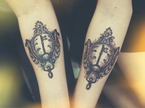 Open  #frame #keys #tattoo