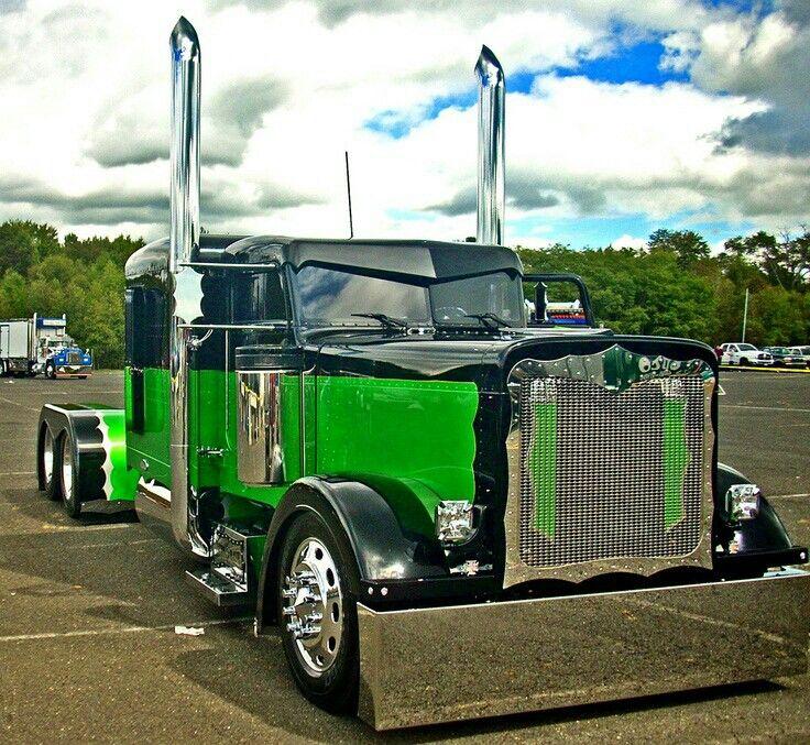 Peterbilt diesel wagon Custom trucks, Big trucks, Big