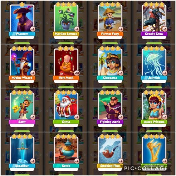 coin master rare cards list 2019