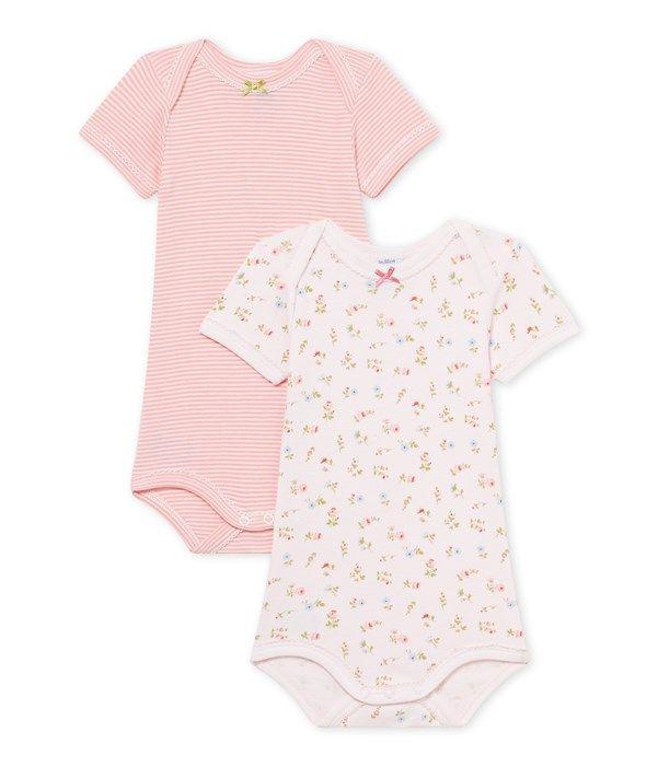 Lot de 2 bodies bébé fille milleraies + imprimé Petit Bateau lot ... 7c9eea18757