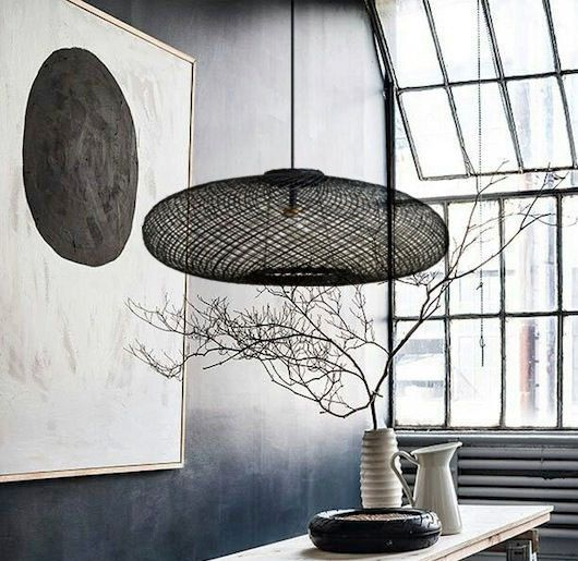 LED plafonnier boule osier salon salle à manger éclairage ALU Rondell luminaire