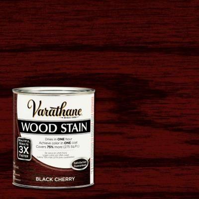 Varathane 1 Qt Black Cherry Premium Fast Dry Interior Wood Stain 2 Pack 266165 Varathane Wood Stain Cherry Wood Stain Interior Wood Stain Colors