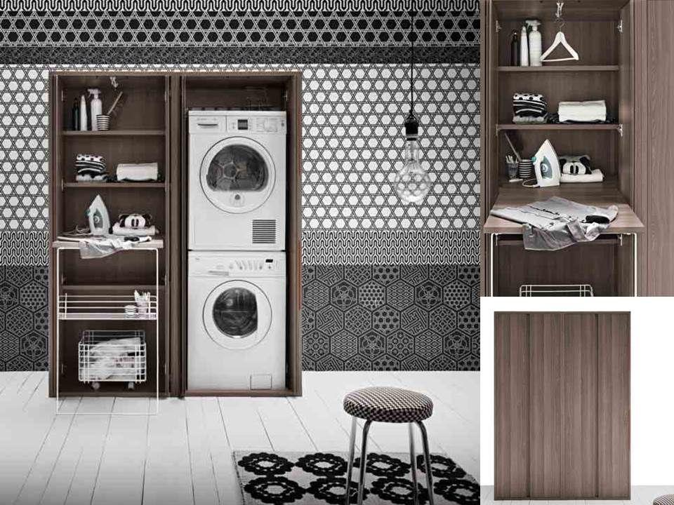 mobile per lavanderia asse da stiro lavatrice asciugatrice 160x70  Lavanderia  Pinterest ...