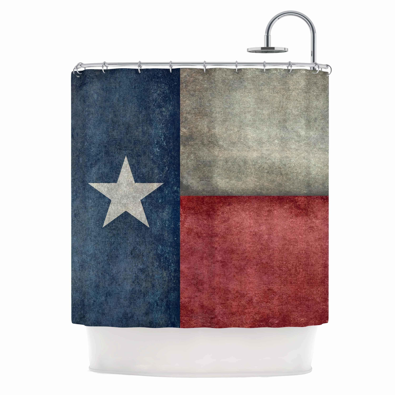 "Kess InHouse Bruce Stanfield ""Texas State Flag"" Vintage Digital Shower Curtain"