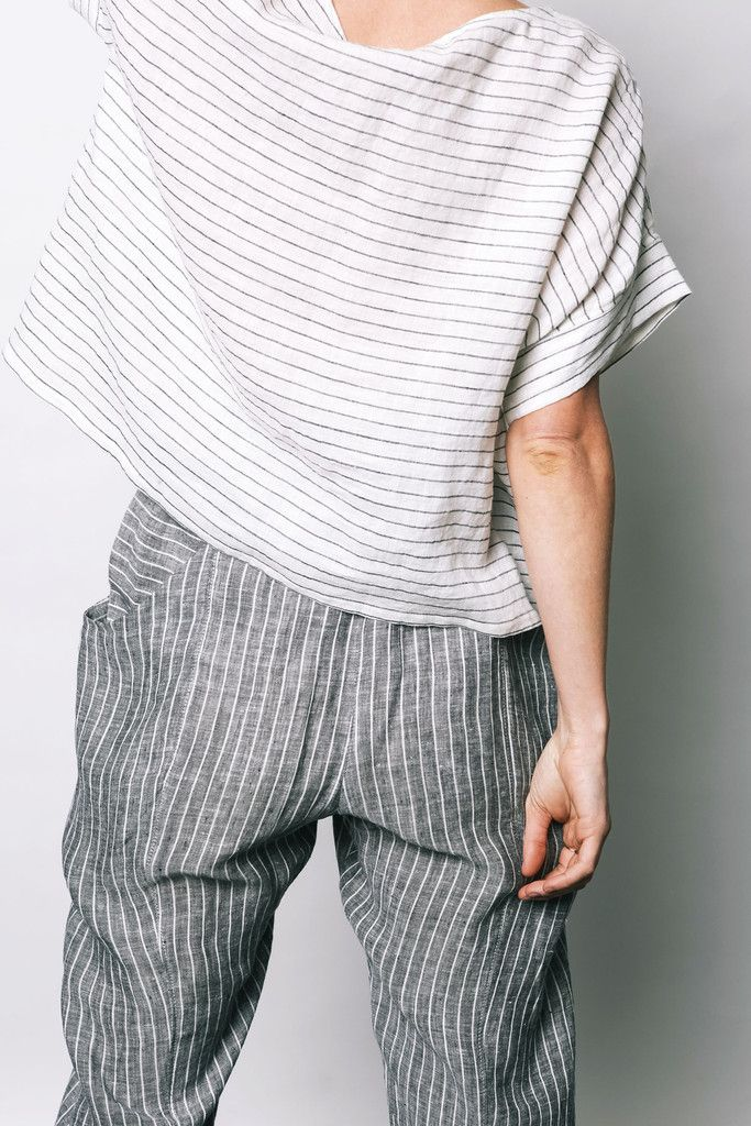 Stripe Clyde Pant