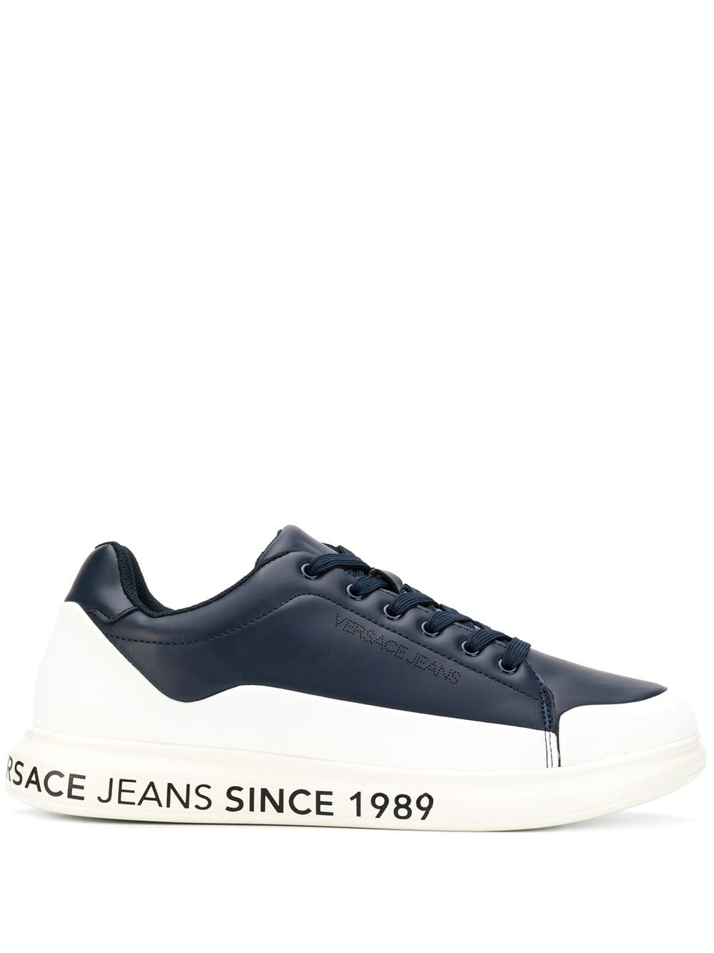 VERSACE JEANS VERSACE JEANS COLOUR BLOCK TRAINERS - BLUE ...