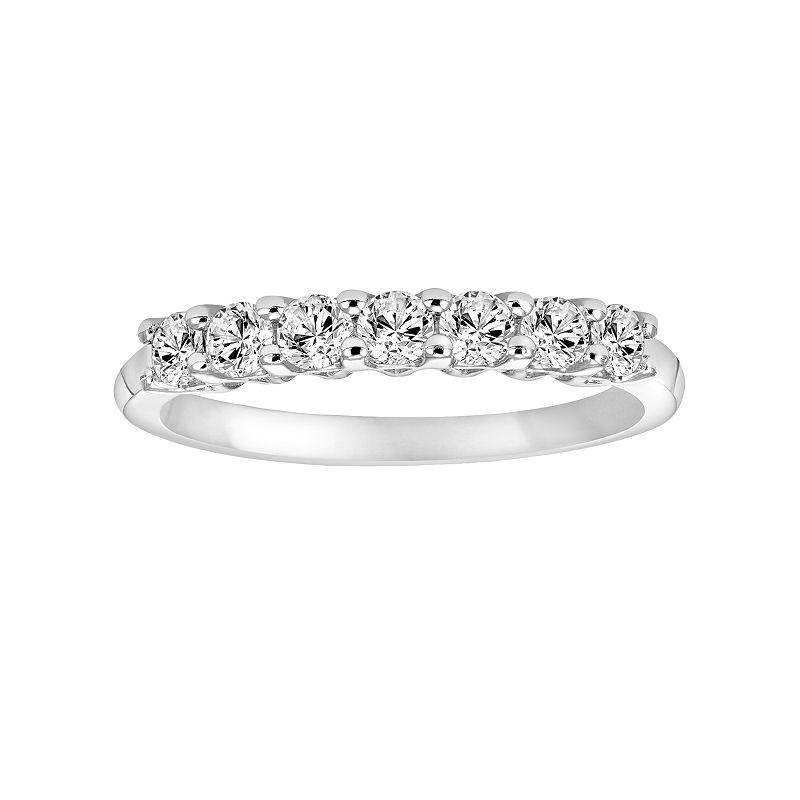 Simply Vera Vera Wang 14k White Gold 1 3 Carat T W Diamond Wedding Band Diamond Wedding Bands Diamond Wedding Rings Wedding Bands