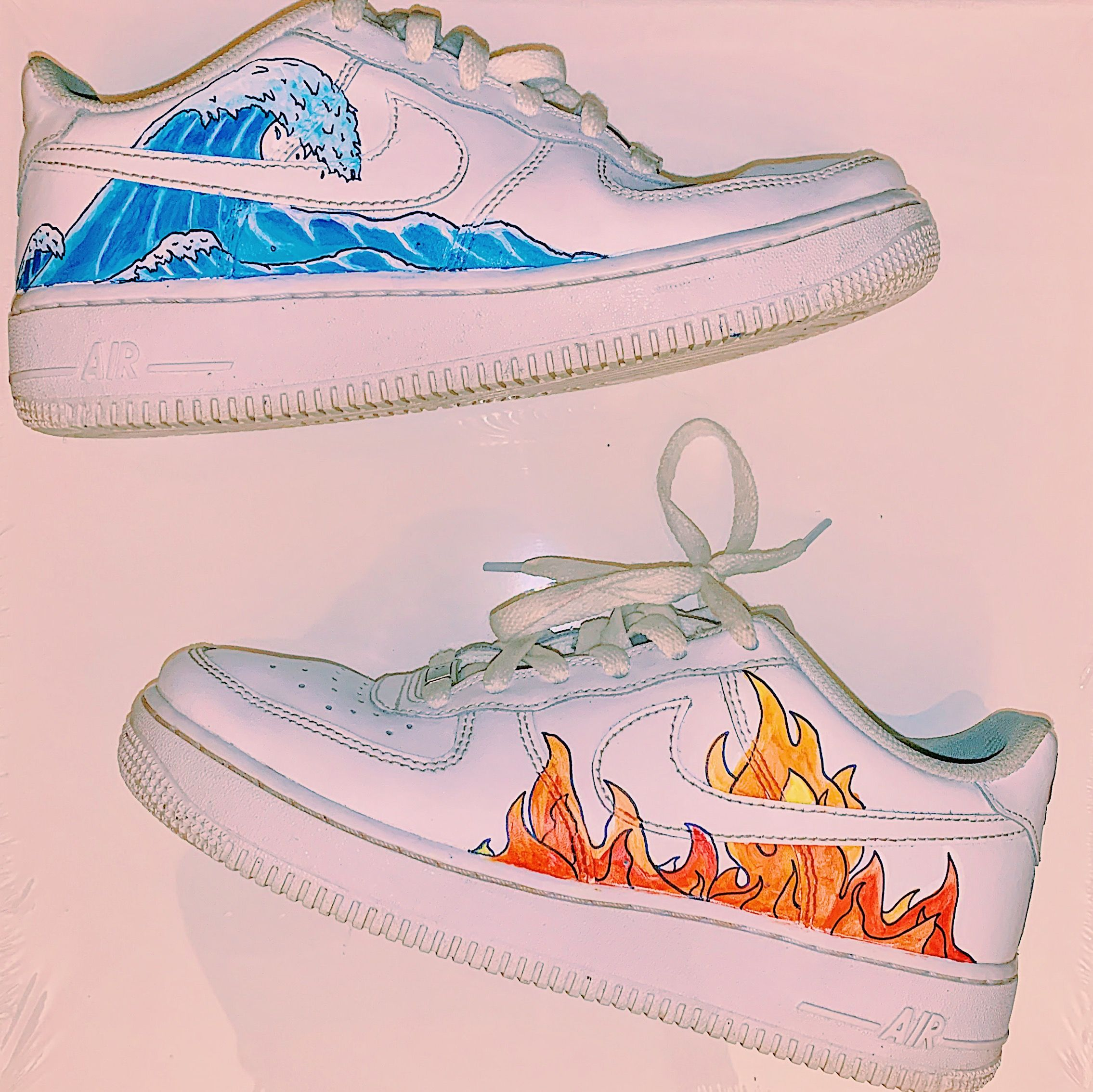 in Wave hand AF1 shoes and 2019Af1 Fire painted '07s rhdCxsQt