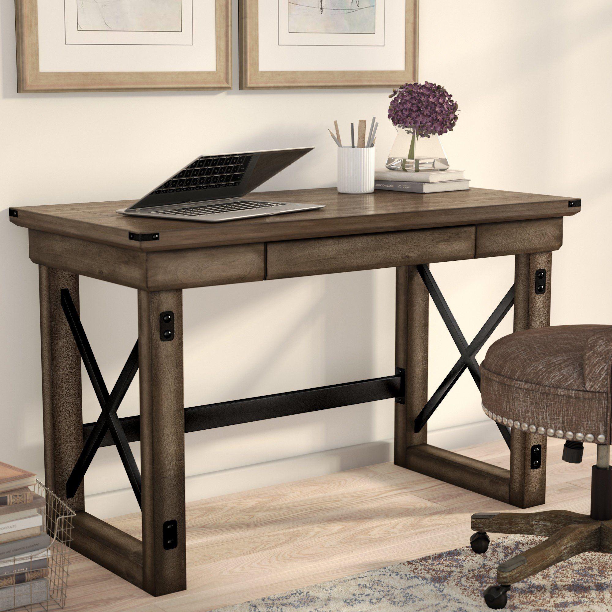 farmhouse corner desk with storage