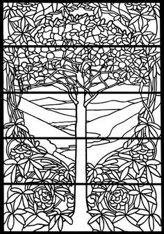 Welcome to Dover Publications Tiffany Designs Stained Glass Coloring ...