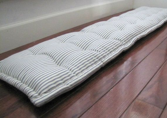 Bench Pad Custom Bench Cushion Ticking Stripe Window Seat Etsy Window Seat Cushions Custom Bench Cushion French Mattress