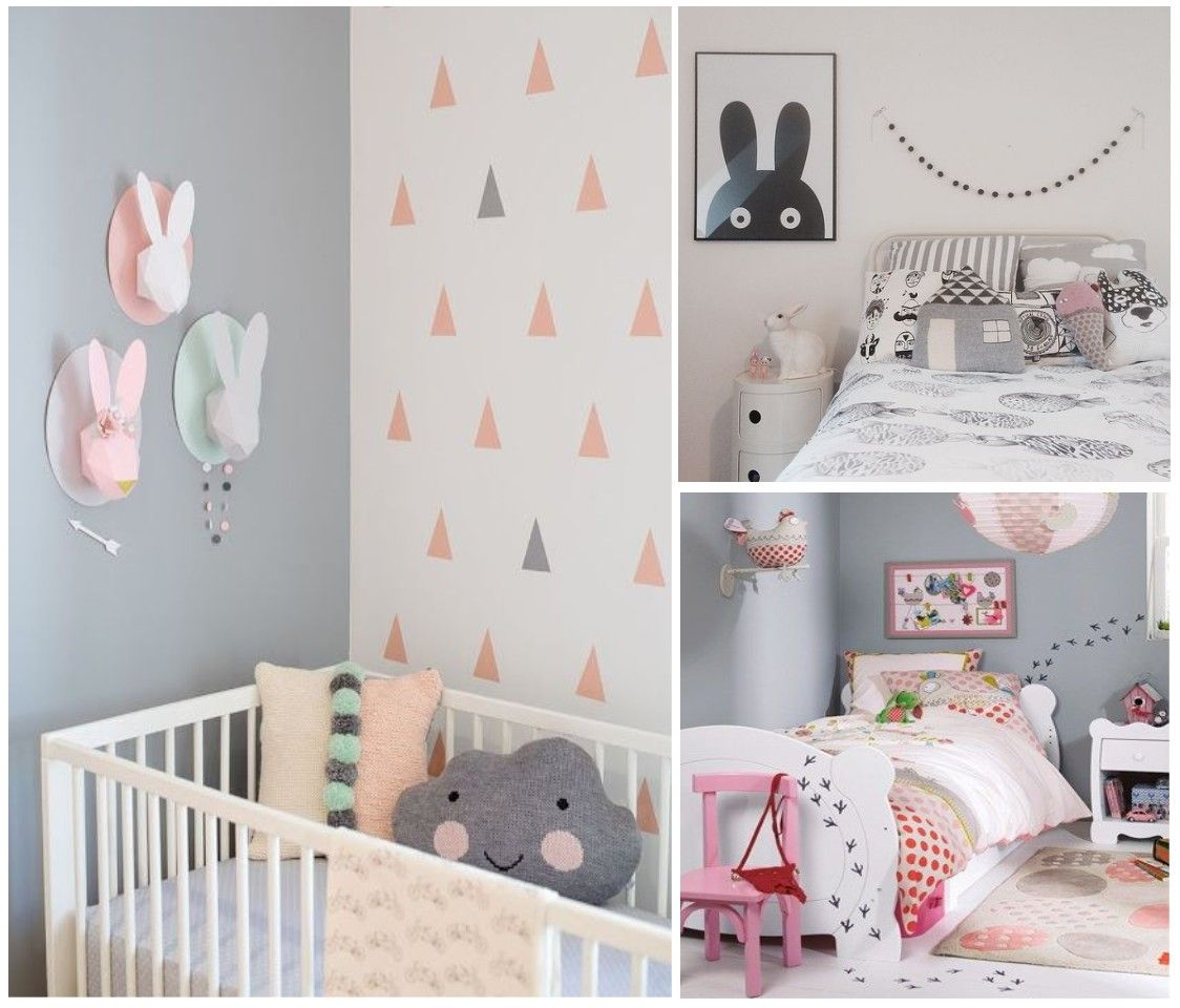 Habitacion de ni a en rosa y azul buscar con google - Como decorar una habitacion de bebe nina ...