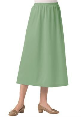 9638135d51 Skirt in soft knit is wrinkle and stain resistant   Plus Size Skirts   Woman  Within