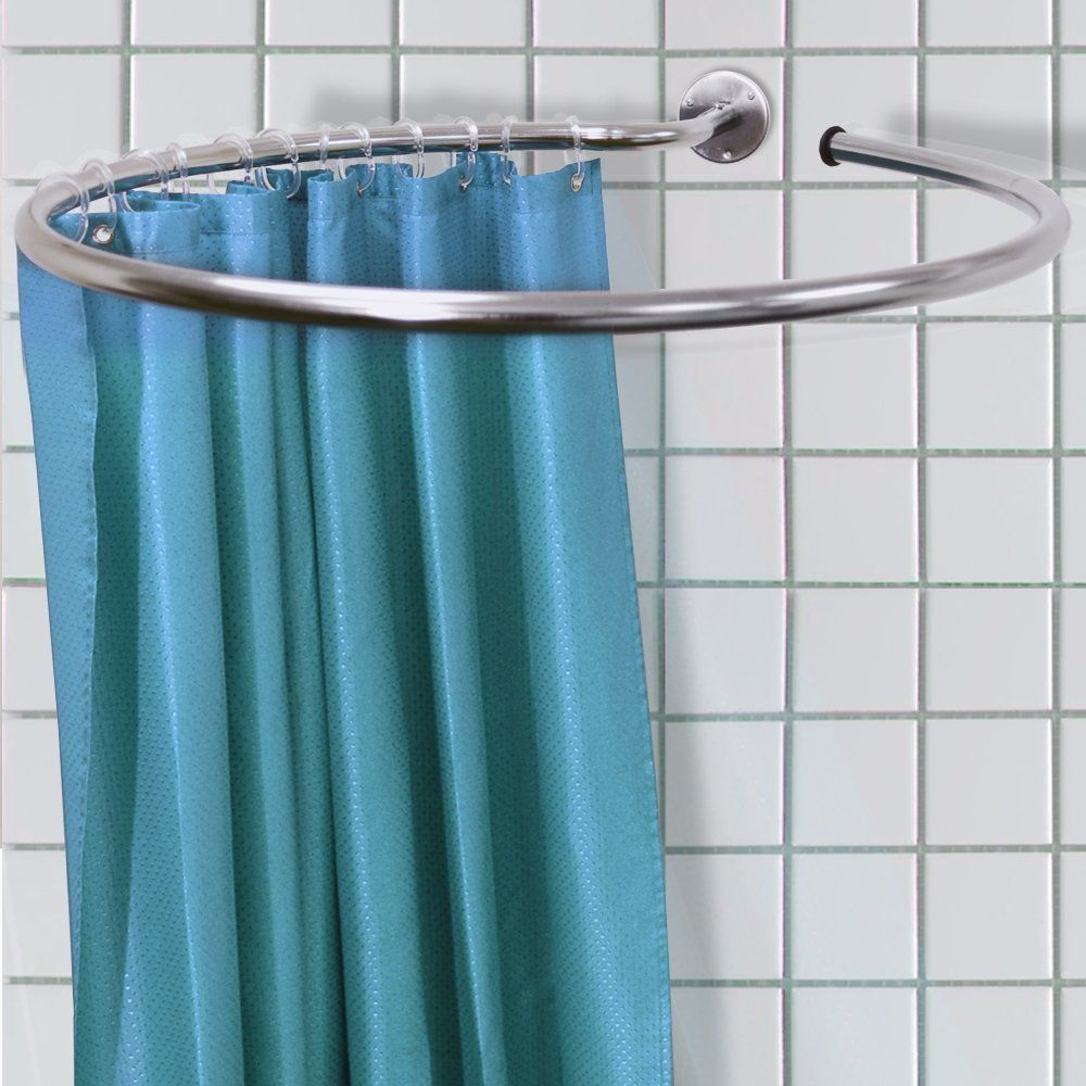 60) LOOP - Stainless Steel Circular Shower Rail and Curtain Rings ...