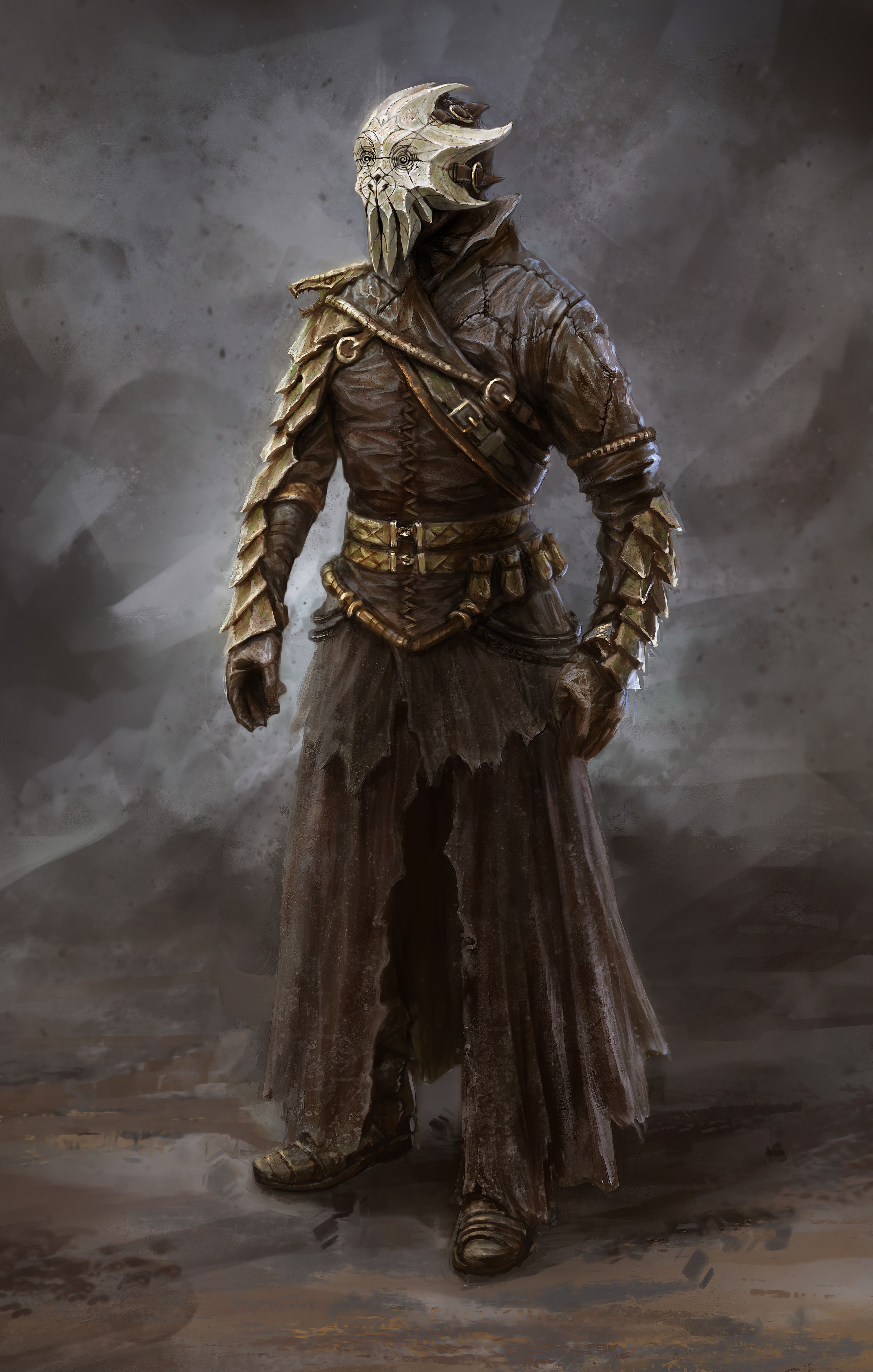 Concept From Bethesda S Skyrim Always Thought The Cultists Had Cool Outfits Deathspacegame Skyrim Art Skyrim Concept Art Elder Scrolls Art