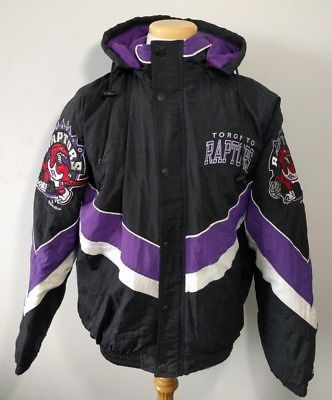 Vintage 90 s Toronto Raptors Starter Jacket NBA Men s L 1994 Coat Basketball d0d58c502