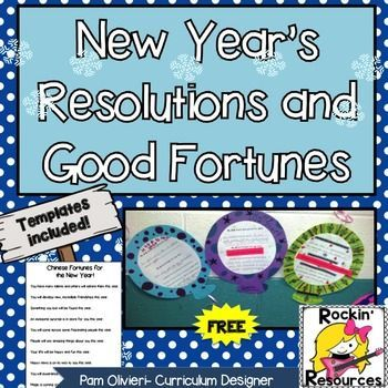 new years resolutions and chinese good fortunes bulletin board sign balloon template writing template and 28 good fortunes included