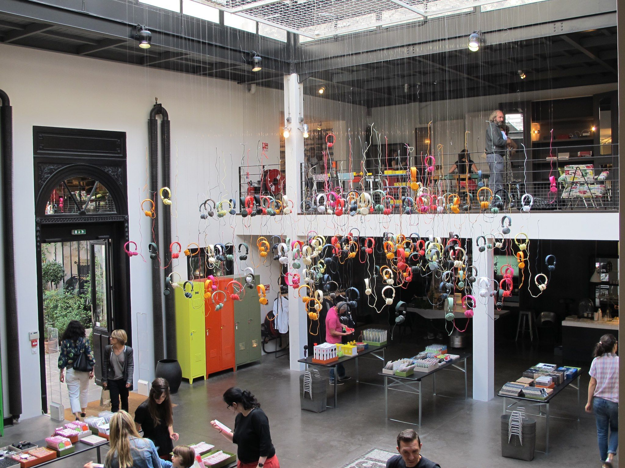 An image from our pop up store at Merci in Paris last week to