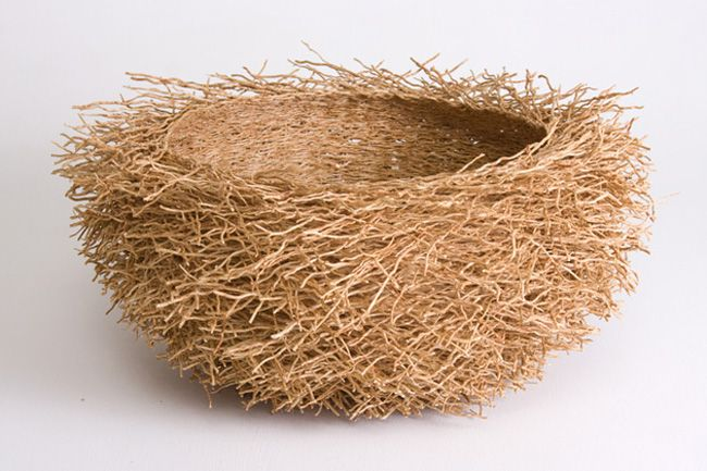 """Vetiver Root Baskets. """"These basket are 100% sustainable and they are made entirely from a type of grass called vetiver. One of the things we loved about these baskets is their aromatic scent. In fact, many people use them as an eco-friendly alternative to other types of air freshener.    To us, these baskets closely resemble a birds nest in shape. That made them all the more desirable because they aren't just beautifully crafted, they are interesting."""""""