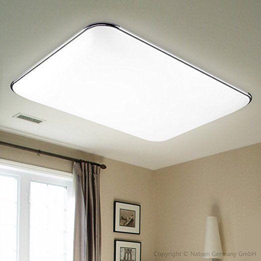 Natsen® 36W LED Deckenbeleuchte Modern Silber Deckenlampe Warmweiß