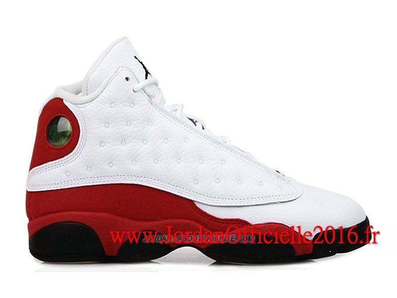 jordan 13 blanche et rouge