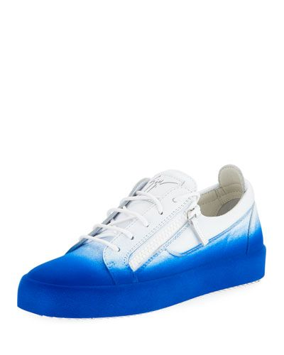 ecffd06715c8b GIUSEPPE ZANOTTI SMUGGY FADE-IN FLOCKED LOW-TOP SNEAKER, BLUE. # giuseppezanotti #shoes #