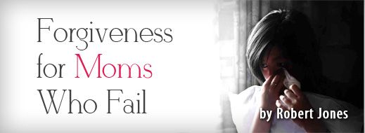 (Forgiveness for Moms Who Fail)   Instead of endless drips of guilt, God bathes believers in Christ with forgiveness. His promises of daily grace cascade upon you like an invigorating waterfall. Especially on those days when you don't feel good enough.