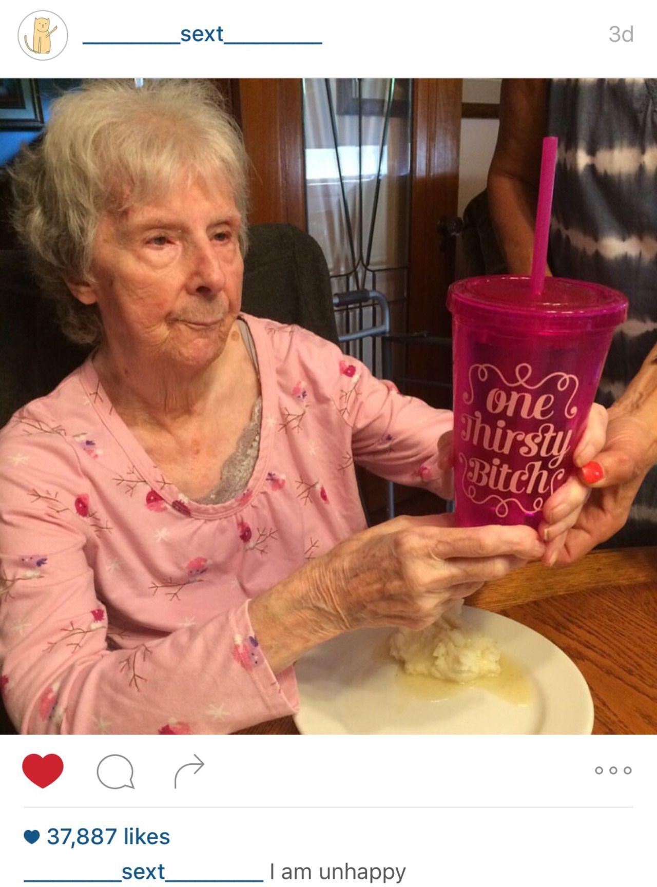 """zackisontumblr: """"my grandma got 37k likes on a humor instagram omg """""""