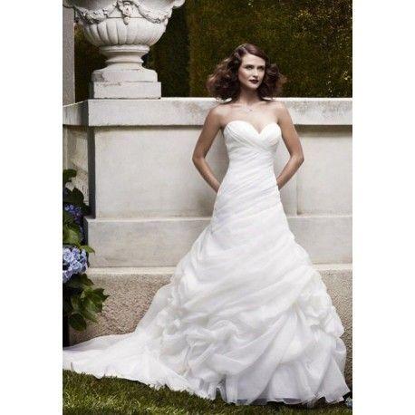 Pleated Ruffles Zipper Organza A Line Wedding Dress In 2018