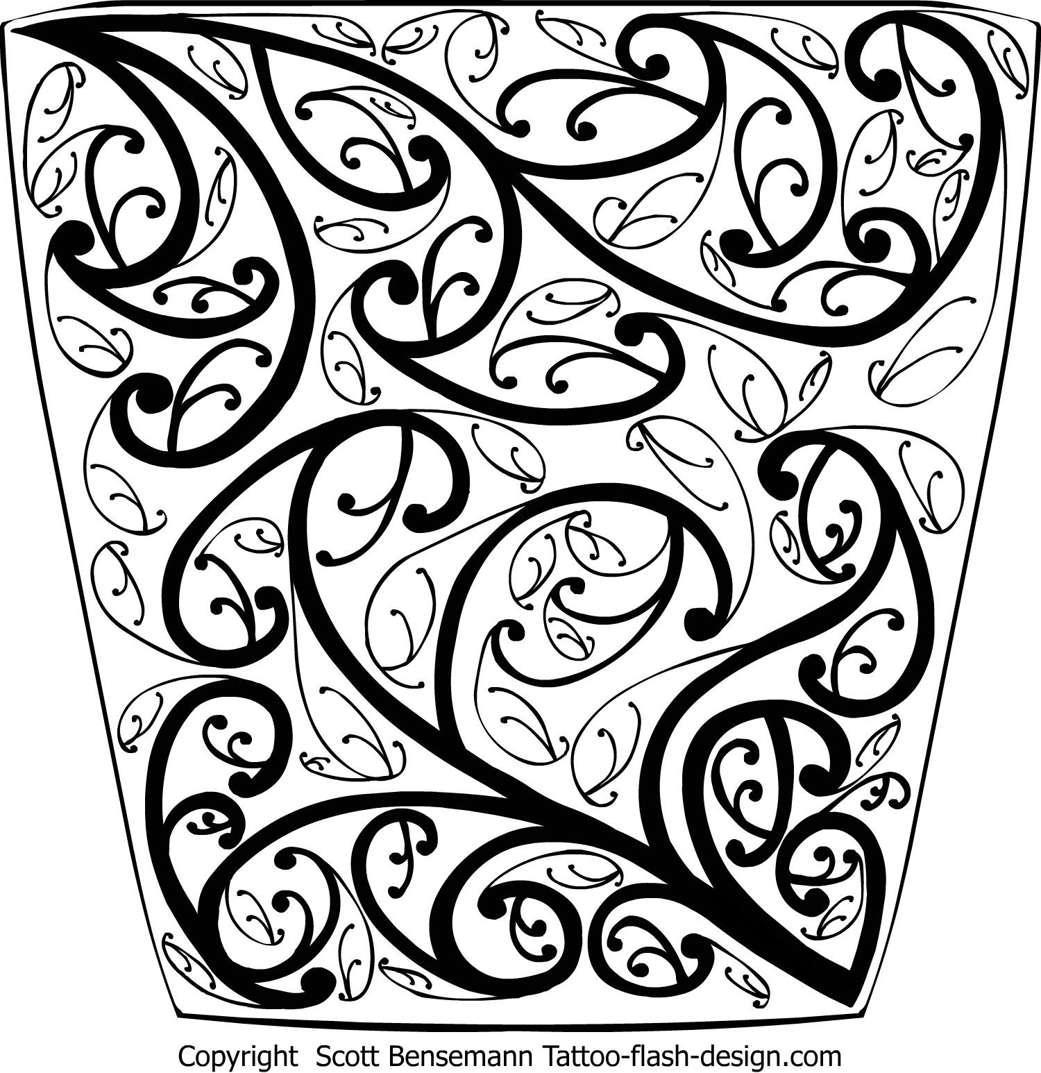 Maori Koru Intense Detail Pattern Drawing