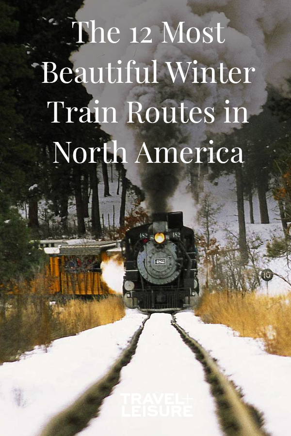 The Most Beautiful Winter Train Routes in North Am