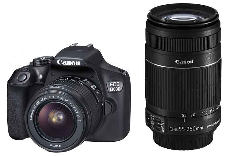 Canon 1300D with 18-55mm & 55-250mm