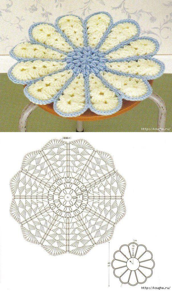 Вязание. Для дома | Ganchillo | Pinterest | Ganchillo, Bordado y Carpeta