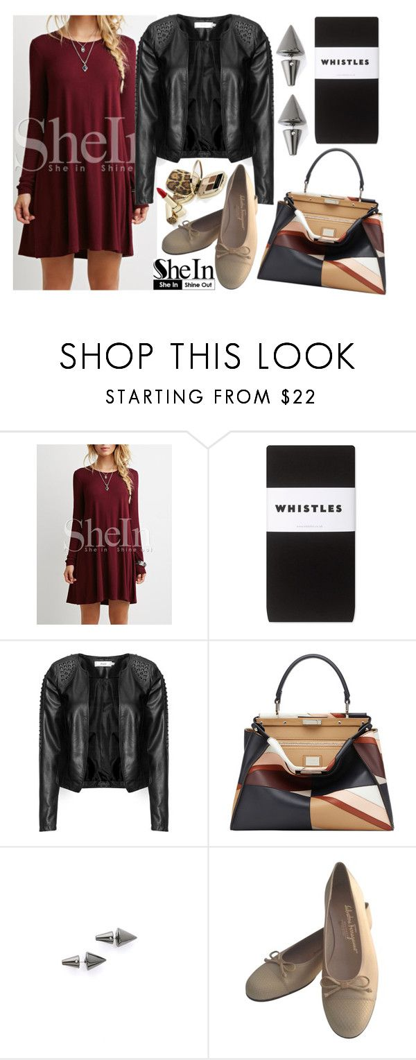 """""""You're Gonna Make It"""" by zaria-j ❤ liked on Polyvore featuring Whistles, Zizzi, Fendi, Eddie Borgo and Salvatore Ferragamo"""