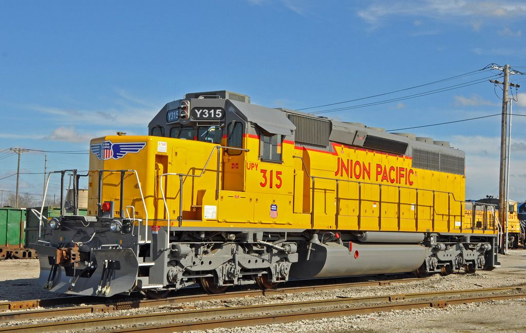 (SD40N). Rebuilt SD402 by Union Pacific with an updated